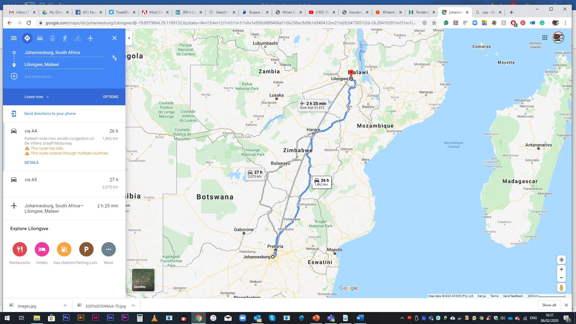 SA Malawi Map